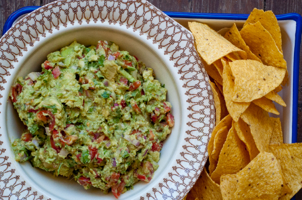French Fridays with Dorie: Guacamole with Tomatoes and Bell Peppers