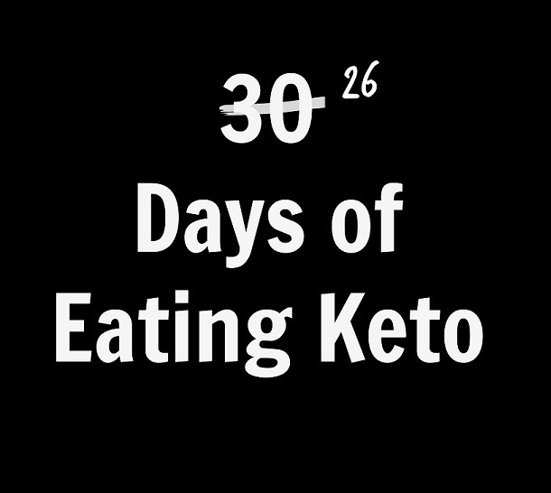 26 Days of Eating Keto (and Why I Had to Stop)