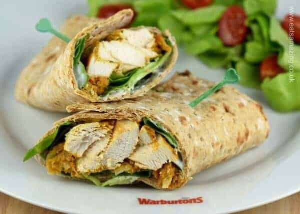 Easy Oven Baked Chicken Tikka Wraps