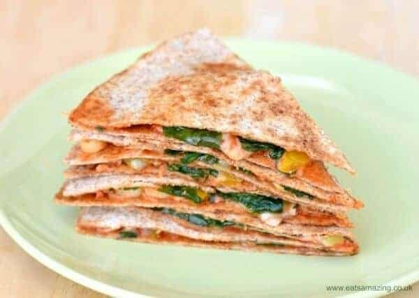 Easy Vegetarian Pizza Quesadilla Recipe