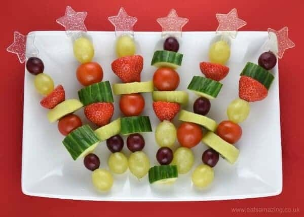Christmas Fruit & Veg Snack Skewers