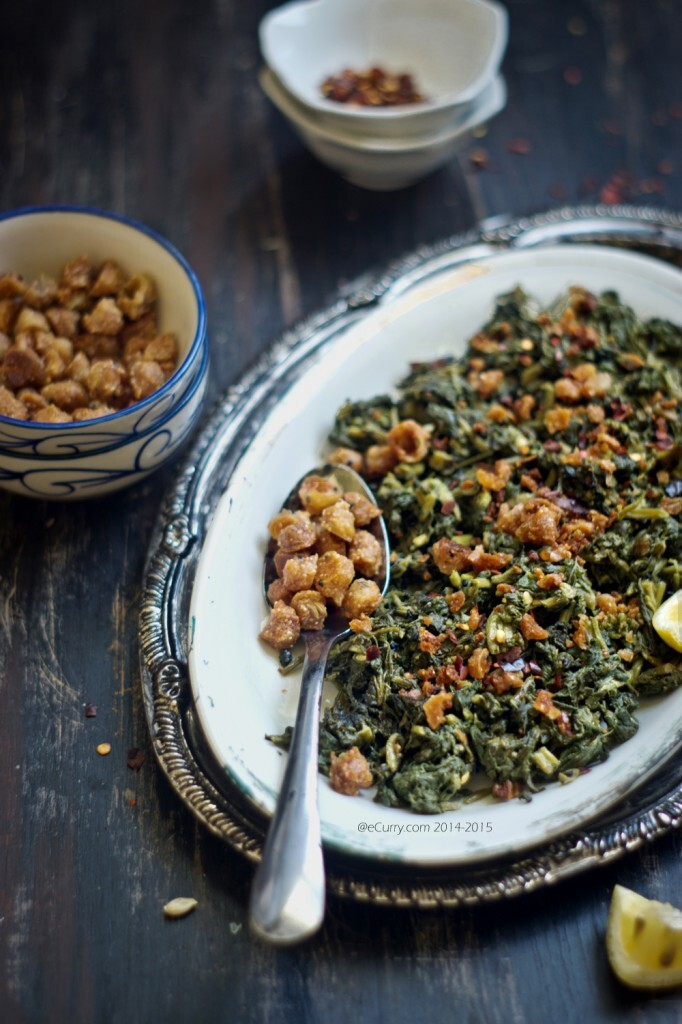 Mulo Shaag Bhaja/Sautéed Radish Greens (Two Ways)