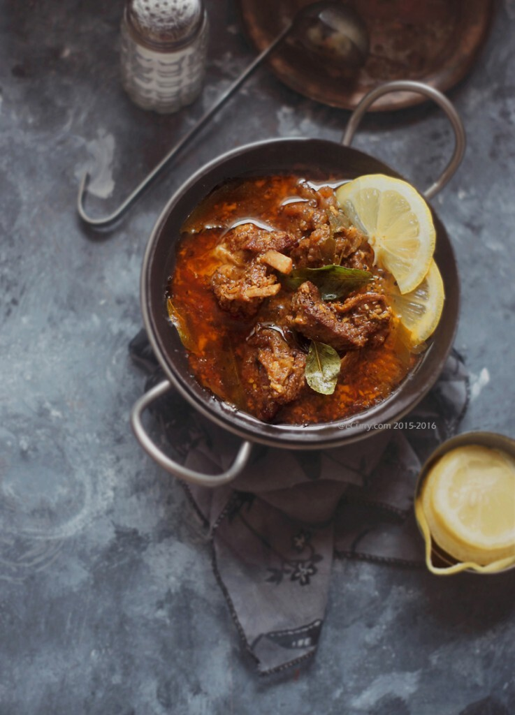 Mutton Curry with Fenugreek, Coconut and Curry Leaves