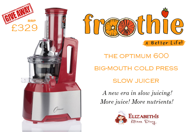 Celebrating National Vegetarian Week with Froothie! {Optimum 600 Slow Juicer Giveaway}