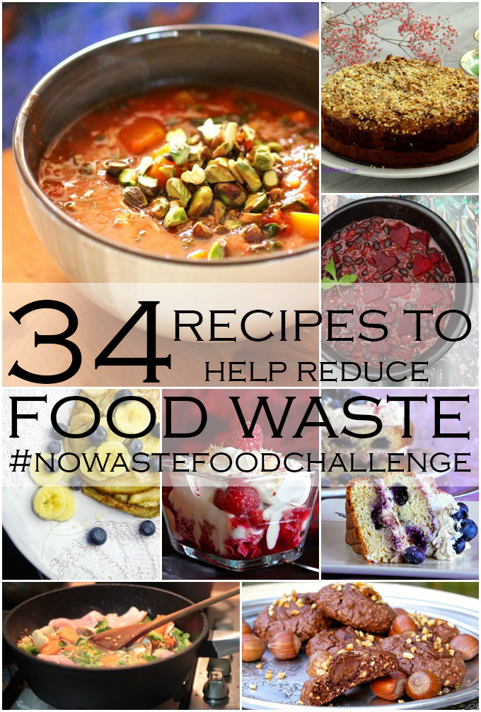 No Waste Food Challenge – 34 Recipes to Help Reduce Food Waste