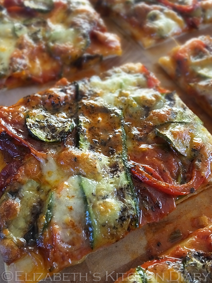 Chorizo & Grilled Vegetable Pizza