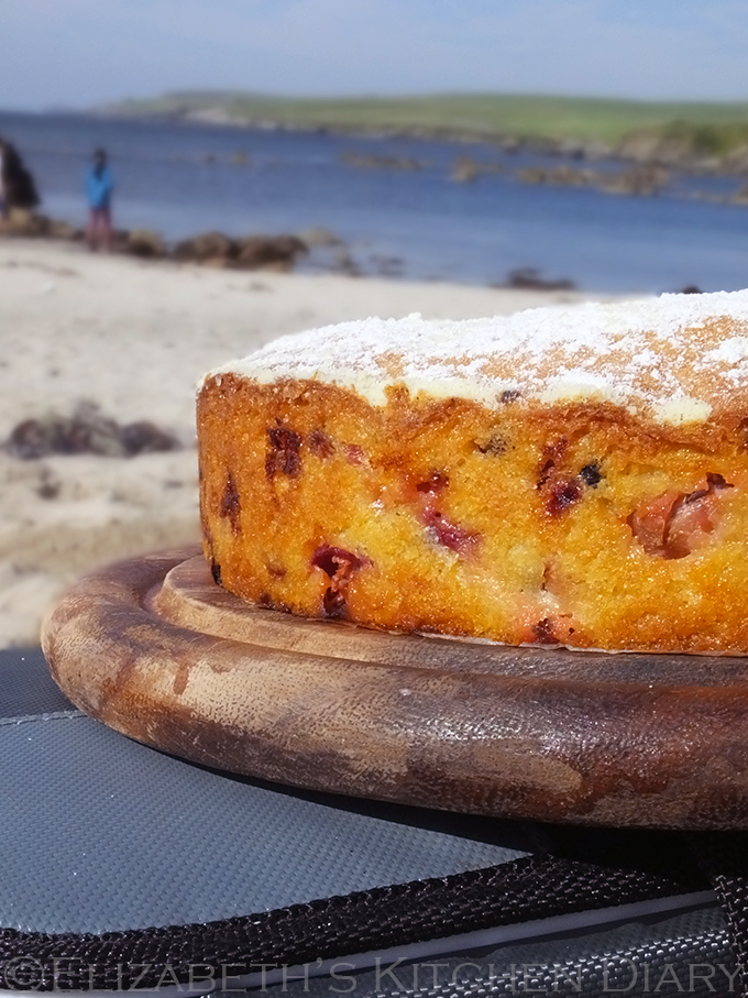 A Summer Fruits Picnic Cake