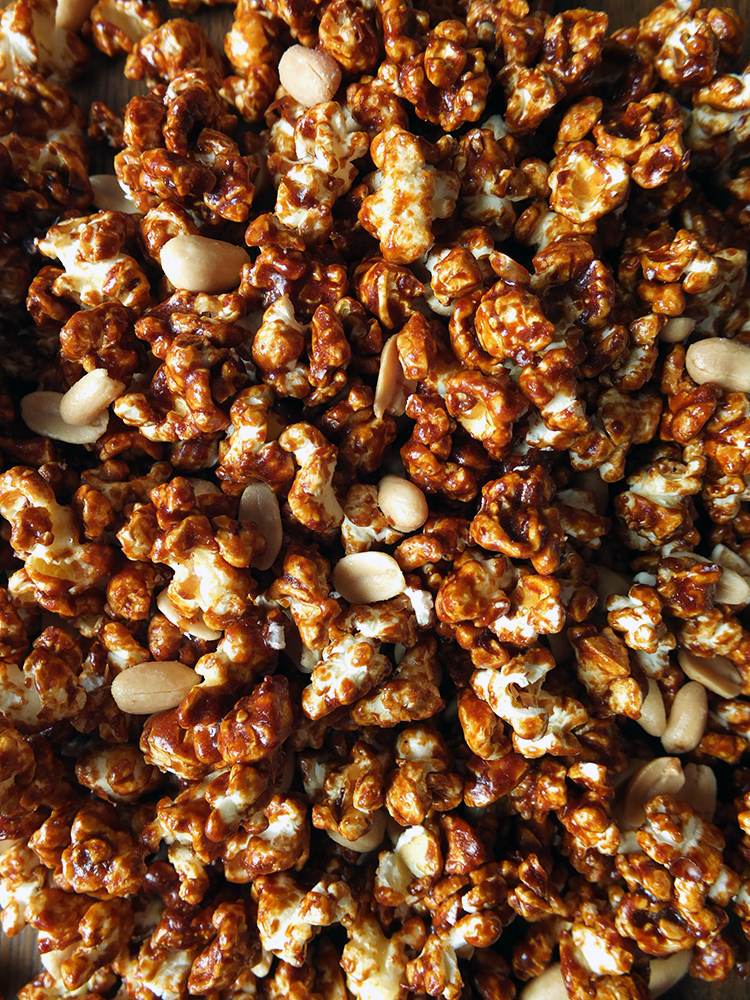 Toffee Popcorn with Peanuts {Recipe Video}