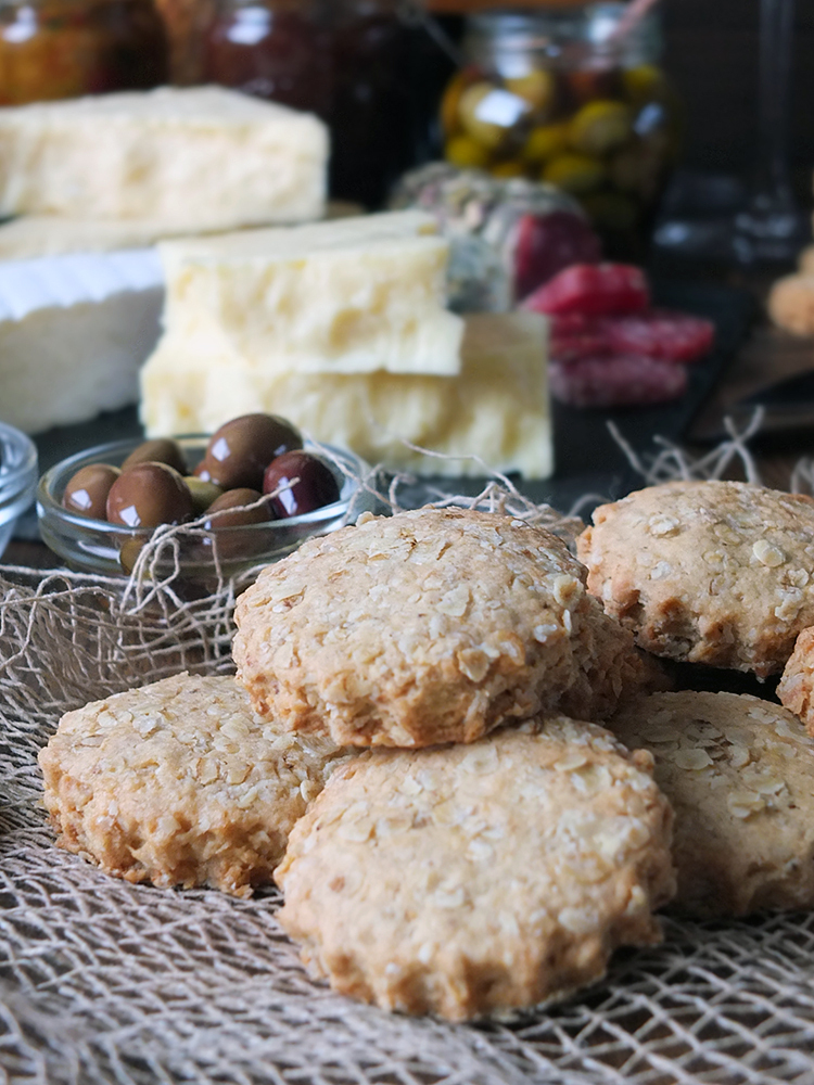 Homemade Mini Rustic Oatcakes for a Cheeseboard