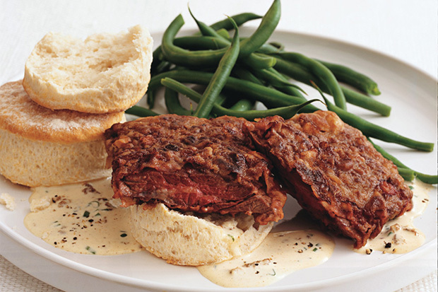 Chicken-Fried Skirt Steak with Country Gravy