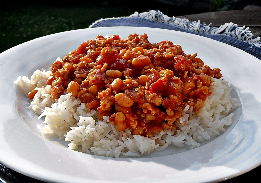 Turkey Chilli with Baked Beans