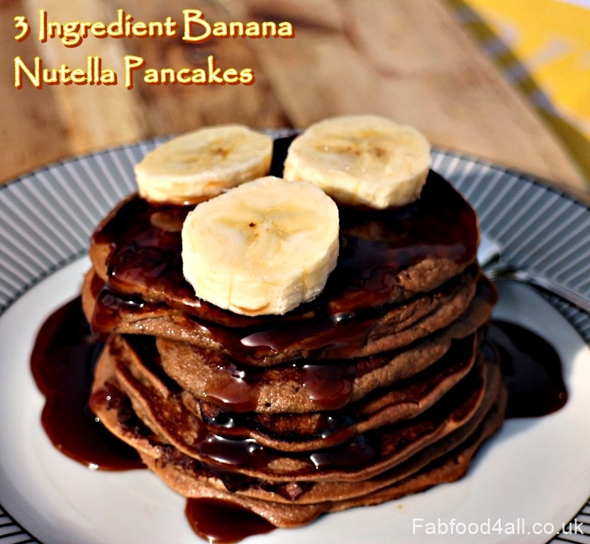 3 Ingredient Banana Nutella Pancakes