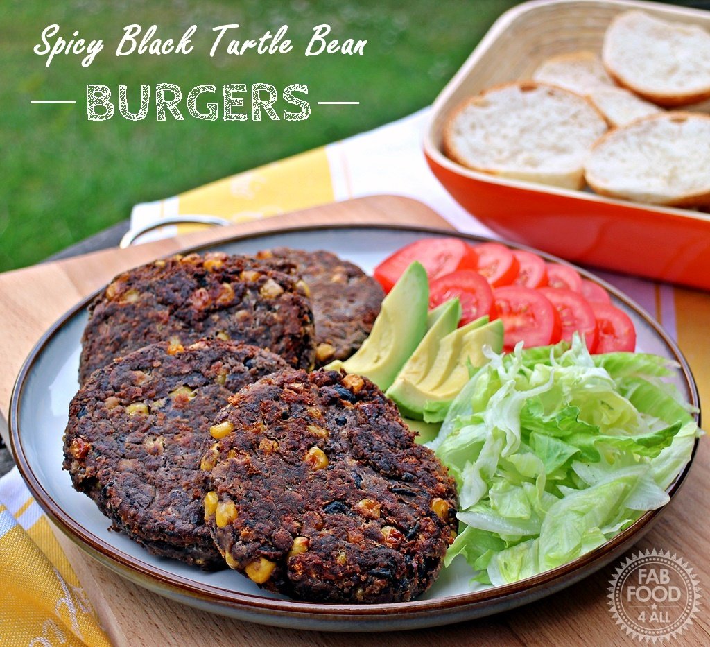 Spicy Black Turtle Bean Burgers