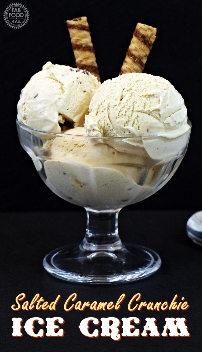 Salted Caramel Crunchie Ice Cream