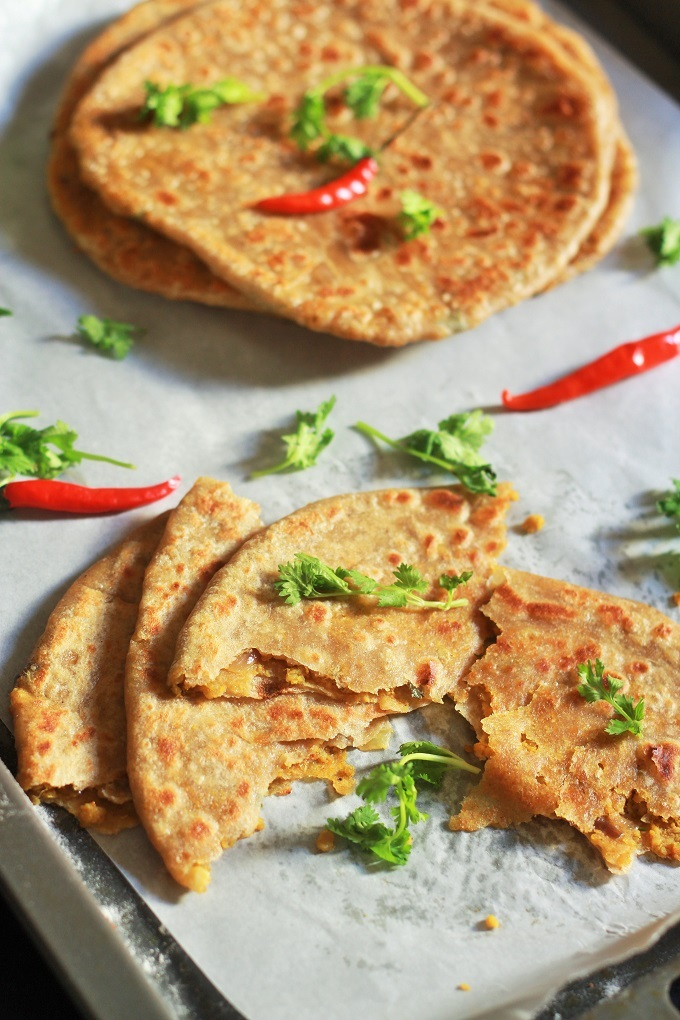 Keema Paratha Recipe-Stuffed keema paratha recipe