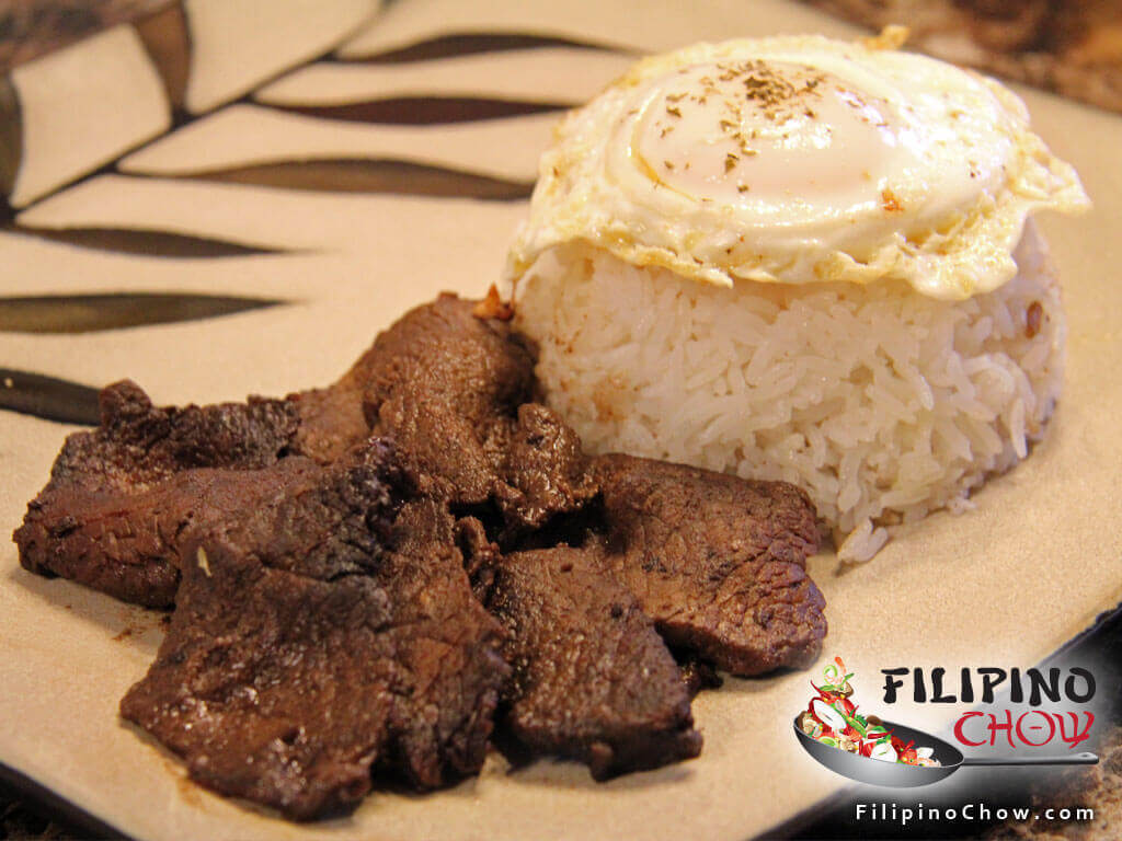 Tapsilog (Beef Tapa with Garlic Fried Rice and Fried Egg)