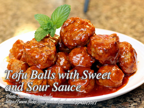Tofu Balls With Sweet And Sour Sauce