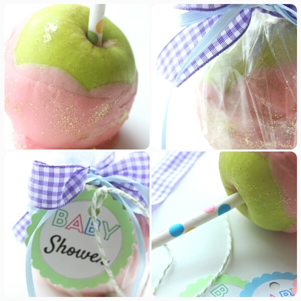 Gourmet Chocolate Covered Apples|Baby Shower Treats