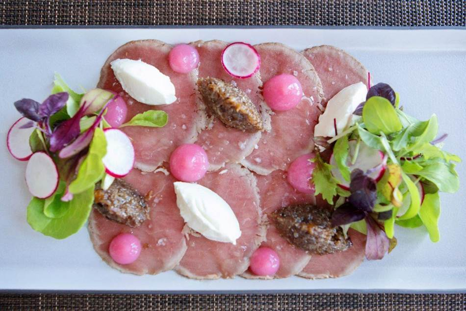 Beef Carpaccio with Biltong Jam Recipe by The Table Bay Hotel