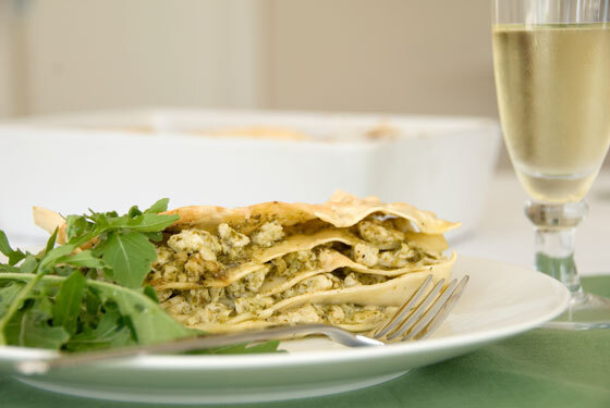 Chicken and Pesto Lasagne