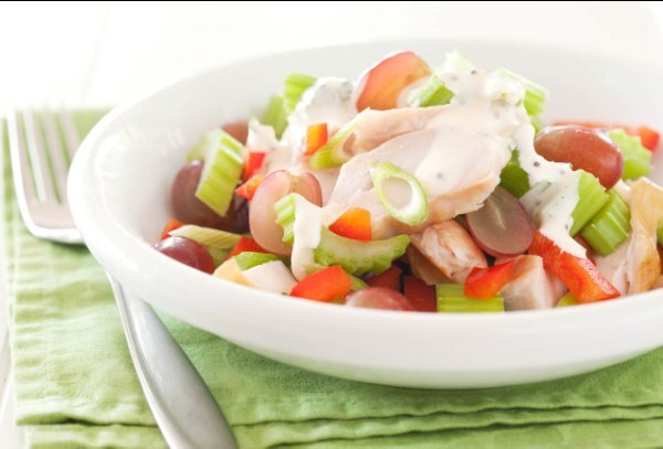 Smoked Chicken and Celery Salad with Honey and Mustard Yoghurt Dressing