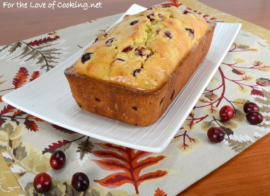 Cranberry Orange Bread with a Light Orange Glaze