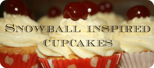 Christmas Cupcakes – Snowball cupcakes with Advocaat frosting….