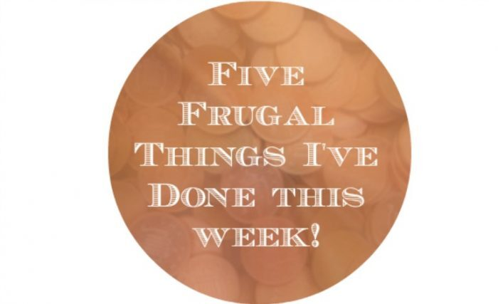 Five Frugal things I've done this week to save money {20th March 2015}….