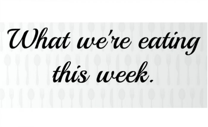What we're eating this week {6th April 2015}….