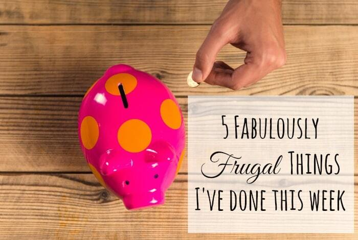 Five Frugal Things I've done this week {24 February 2017}….