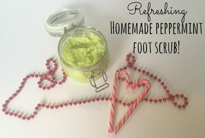 Homemade Peppermint Foot Scrub….