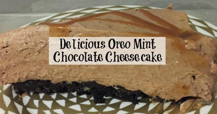 Oreo Mint Chocolate Cheesecake….