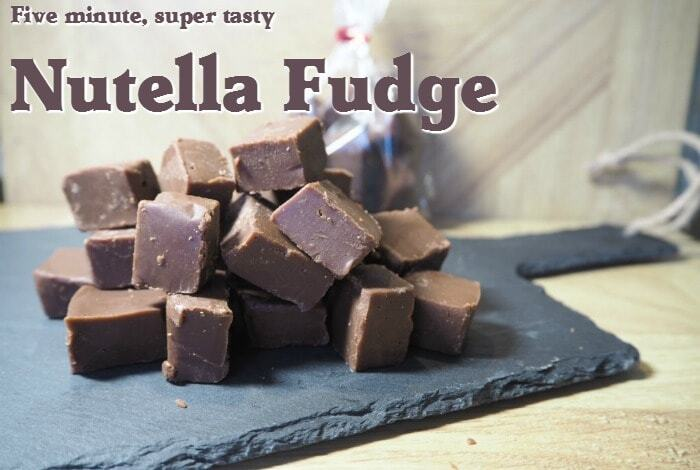 5 Minute Nutella Fudge