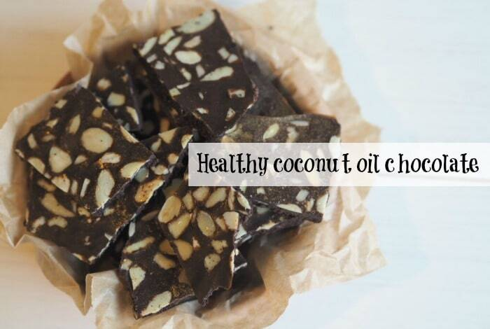 Healthy 3 ingredient coconut oil chocolate….
