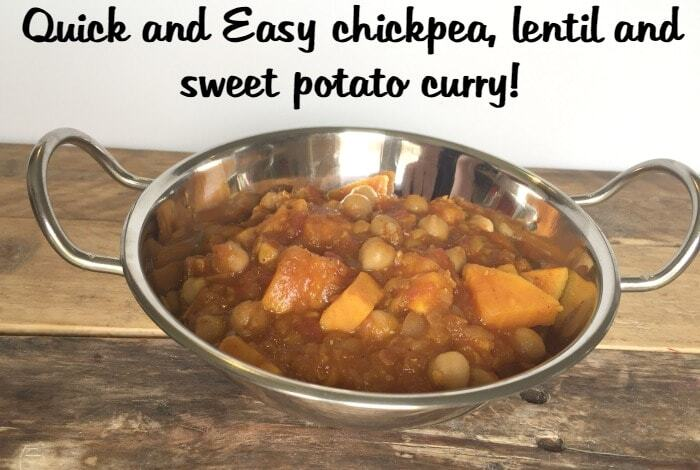 Storecupboard Slimming World Chickpea, Lentil and Sweet Potato Curry….
