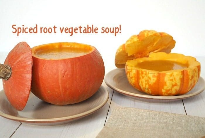 Spiced root vegetable soup – just what you need to warm you up….