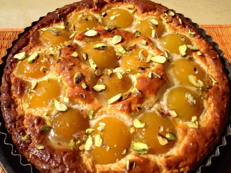 Apricot, coconut and pistachio Eggless cake