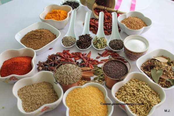 Basic spices for making Indian food