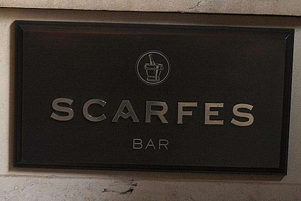 Scarfes Bar – The New Menu