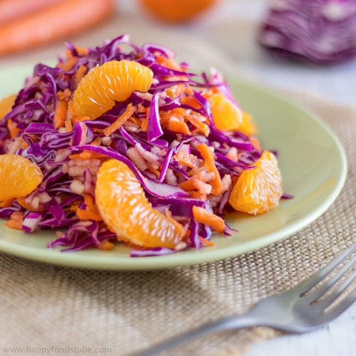 Yummylicious Detox Red Cabbage Salad
