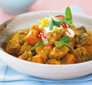 Tasty chicken and pumpkin stew