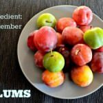 Baked plums with a Ginger and Almond Topping