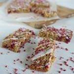 Iced Raspberry Banana Flapjacks