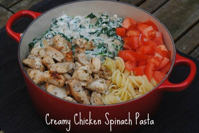 Creamy Chicken Spinach Pasta
