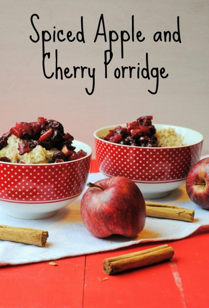 Spiced Apple and Cherry Porridge