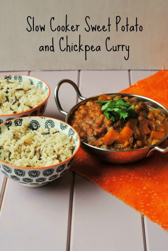 Slow Cooker Sweet Potato and Chickpea Curry