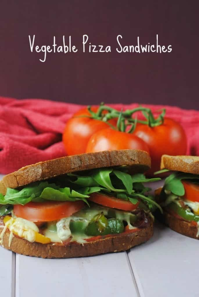 Vegetable Pizza Sandwiches