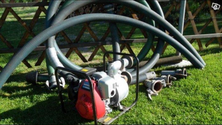 Kraftig Bensindriven Vattenpump