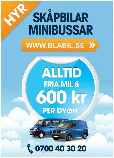 Hyr Billig Skåpbil, Kylbil och Minibuss, 9 sittplatser, med dragkrok, B-körkort