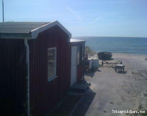 Bad och fiskestuga direkt på stranden, Mossbystrand, Skåne - Uthyres